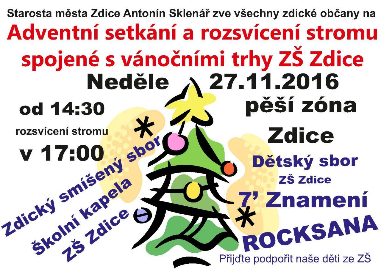 8105559888a Akce - Adventní strom a vánoční trhy ZŠ Zdice - Oficiální stránky ...